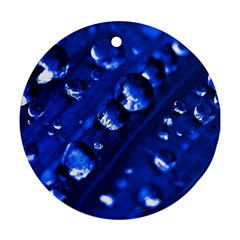 Waterdrops Round Ornament (two Sides)