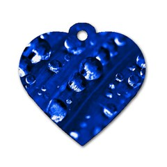 Waterdrops Dog Tag Heart (one Sided)