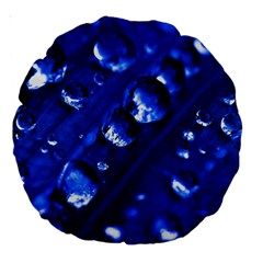 Waterdrops 18  Premium Round Cushion