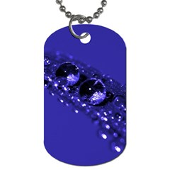 Waterdrops Dog Tag (one Sided)