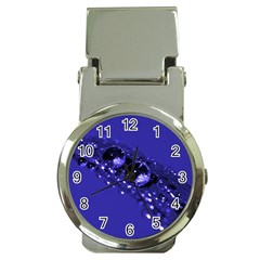 Waterdrops Money Clip with Watch