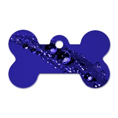 Waterdrops Dog Tag Bone (Two Sided)