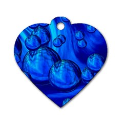 Magic Balls Dog Tag Heart (two Sided)