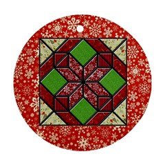Grandma s Quilt Round Ornament (Two Sides)