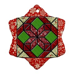 Grandma s Quilt Snowflake Ornament (two Sides)