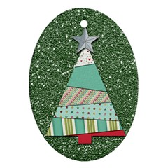 Oh Christmas Tree Oval Ornament (two Sides)