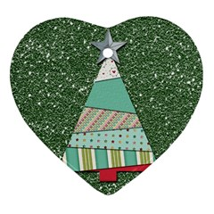 Oh Christmas Tree Heart Ornament (Two Sides)