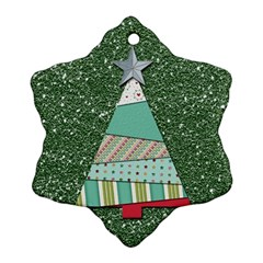 Oh Christmas Tree Snowflake Ornament (Two Sides)
