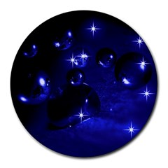 Blue Dreams 8  Mouse Pad (Round)