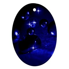 Blue Dreams Oval Ornament