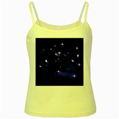 Blue Dreams Yellow Spaghetti Tank