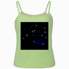 Blue Dreams Green Spaghetti Tank