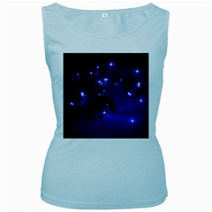 Blue Dreams Womens  Tank Top (Baby Blue)
