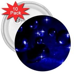 Blue Dreams 3  Button (10 Pack)