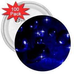 Blue Dreams 3  Button (100 pack)