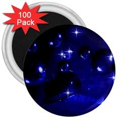Blue Dreams 3  Button Magnet (100 pack)
