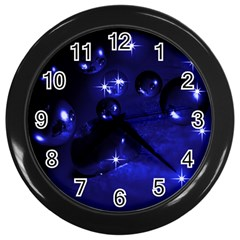 Blue Dreams Wall Clock (Black)