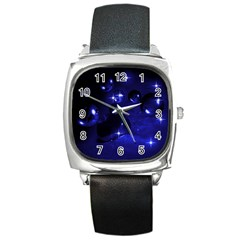 Blue Dreams Square Leather Watch