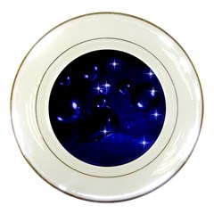 Blue Dreams Porcelain Display Plate