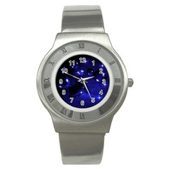 Blue Dreams Stainless Steel Watch (Unisex)