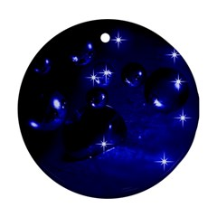Blue Dreams Round Ornament (Two Sides)