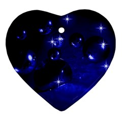 Blue Dreams Heart Ornament (Two Sides)