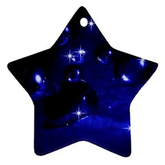 Blue Dreams Star Ornament (Two Sides)