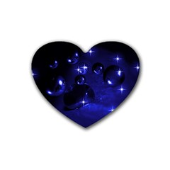 Blue Dreams Drink Coasters 4 Pack (heart)