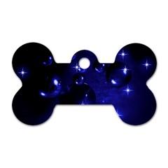 Blue Dreams Dog Tag Bone (One Sided)