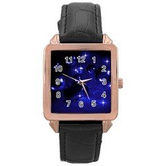 Blue Dreams Rose Gold Leather Watch