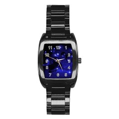Blue Dreams Men s Stainless Steel Barrel Analog Watch