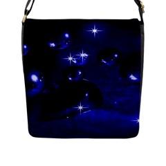 Blue Dreams Flap Closure Messenger Bag (large)