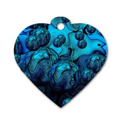 Magic Balls Dog Tag Heart (one Sided)