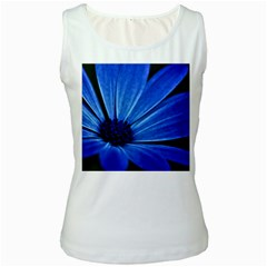 Flower Womens  Tank Top (White)