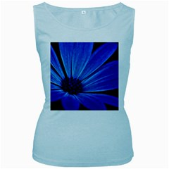Flower Womens  Tank Top (Baby Blue)