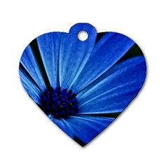 Flower Dog Tag Heart (two Sided)