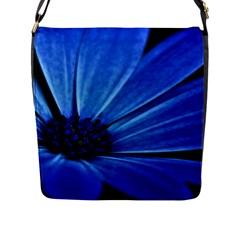 Flower Flap Closure Messenger Bag (large)