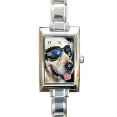 Cool Dog  Rectangular Italian Charm Watch