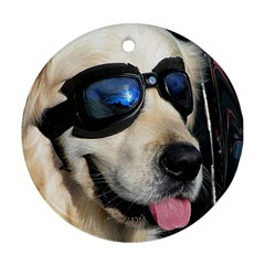 Cool Dog  Round Ornament