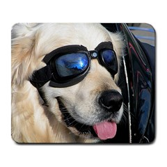Cool Dog  Large Mouse Pad (Rectangle)