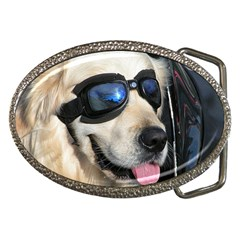 Cool Dog  Belt Buckle (Oval)