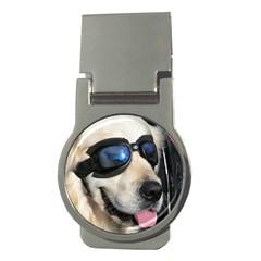 Cool Dog  Money Clip (round)