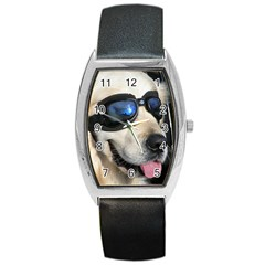 Cool Dog  Tonneau Leather Watch