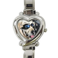 Cool Dog  Heart Italian Charm Watch