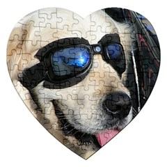 Cool Dog  Jigsaw Puzzle (Heart)