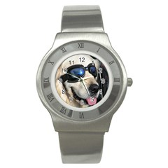 Cool Dog  Stainless Steel Watch (Unisex)