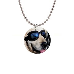 Cool Dog  Button Necklace