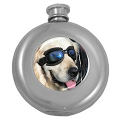 Cool Dog  Hip Flask (round)