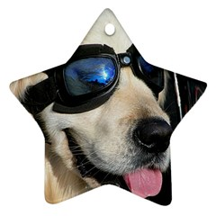 Cool Dog  Star Ornament (Two Sides)