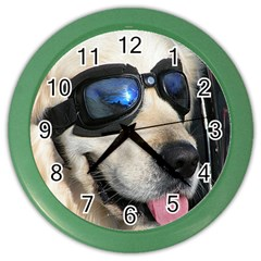 Cool Dog  Wall Clock (Color)